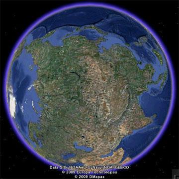グーグルアース (google earth) の地球 加工版
