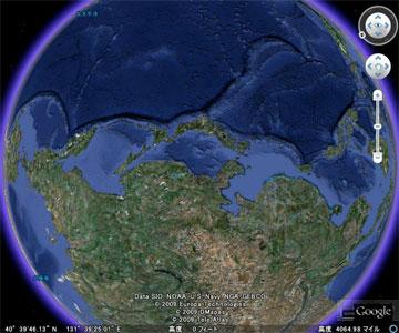 グーグルアース (google earth) の日本