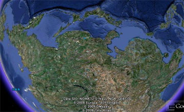 グーグルアース (google earth) の日本 加工版